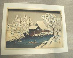 Snow Scene of the Iruma River