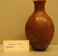 Red polished vase