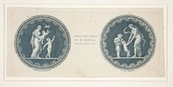 Two Designs for Snuff Boxes: L'Amusement enfantin and La Danse enfantine (Infantile Entertainment and the Infantile Dance)