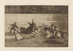 Mort de Pepe Illo (Death of Pepe Illo, 2nd Composition), Plate E from La tauromaquia (third edition)