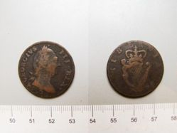 Halfpenny of George III, King of Great Britain from London