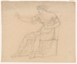 A Seated Classical Female Figure