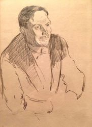 Portrait Study of a Man (Yan Nibor) (recto); Loose Sketch (verso)