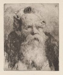 Old Man with Beard, from the Raccolta di Teste (Collection of Heads)