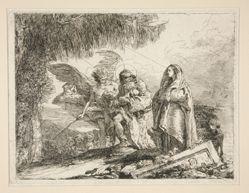 Joseph Carrying Jesus in his Arms, from the series Idee pittoresche sopra la fuga in Egitto (Flight into Egypt)