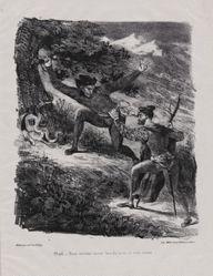 Faust et Méstophélès dans les montagnes du Hartz (Faust and Mephistopheles in the Hartz Mountains), from Johann Wolfgang von Goethe's Faust