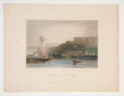 The Palisades--Hudson River, illustration for Nathaniel Parker Willis's book American Scenery