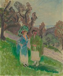 Deux femmes dans un paysage