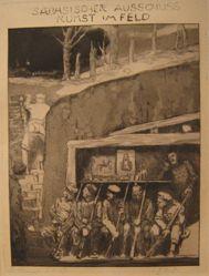 Im Unterstand (In the Dugout), from Sächsischer Ausschuß für Kunst ins Feld (Saxon Commission for Art in the Battlefield)