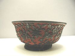 Carved Lacquer Bowl