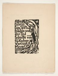 Das Stiftsfraulein und der Tod  (The Canoness and Death). Illustrations for a novel by Alfred Doeblin