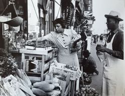 Shopping for fruit on 135th Street, Harlem, New York City