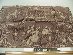 "Length of printed cotton, ""Fancy-dress Ball"""