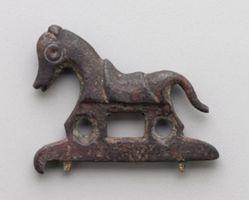 Saddled Horse on Base