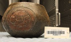 Bowl with Three Glyphs