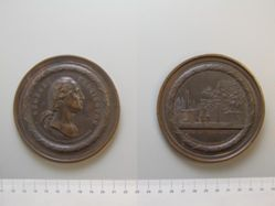 Copper electrotype medal of George Washington and his tomb at Mount Vernon (Crutchett medal)