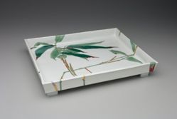 Tray with Design of Bamboo