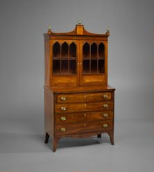 Lady's Secretary and Bookcase Made for John Doan