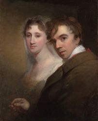 Self-Portrait of the Artist Painting His Wife (Sarah Annis Sully)