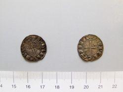 Silver denier of Bohemond III or IV from Antioch