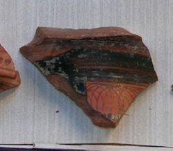 Athenian column krater fragment with lotus bud pattern