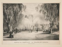 View of the Fountain in Franklin Square, Philadelphia