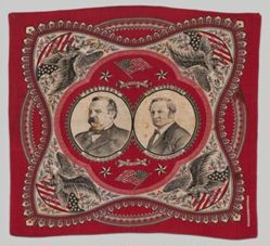 Grover Cleveland and Thomas A. Hendricks Bandanna