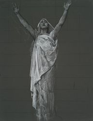 Study for figure of Religion rondel in the rotunda of the state capitol building in Harrisburg, Pennsylvania, 1902-1911