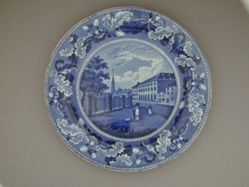 Plate with a View of Park Theatre, New York