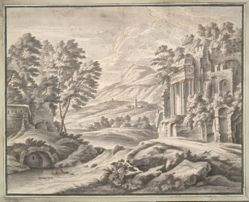 Italianate Landscape with Ruins