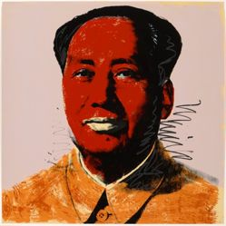 Mao, in a portfolio of ten: Red face, white lips