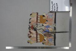 Shadow Puppet (Wayang Kulit) of Ki Brayut, from the set Kyai Drajat