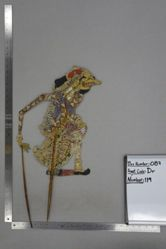 Shadow Puppet (Wayang Kulit) of Durna, from the set Kyai Drajat