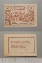 50 Heller from Mitterbach, Notgeld