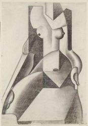 Abstraction: Seated Woman