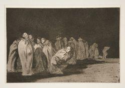 Los encasados (The Men in Sacks), pl. 8 from the series Los proverbios