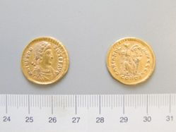 Gold Solidus of Theodosius I from Constantinople