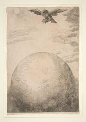 The Tortoise and the Eagle (Der Adler und die Schildkroete), illustration for Aesop