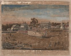 The Battles of Lexington and Concord:  Plate I, The Battle of Lexington, April 19, 1775.  Plate II, A View of the Town of Concord.  Plate III:  The Engagement at the South Bridge in Concord.  Plate IV:  A Fiew of the South Part of Lexington.