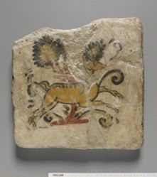 Tile with Running Animal