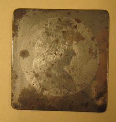 Copper plate for Mrs. George Clinton