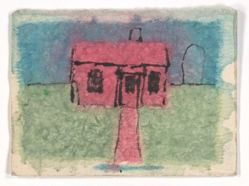 James Castle, Untitled [Red house]