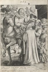 The Story of the Prodigal Son, from a series of 6 prints