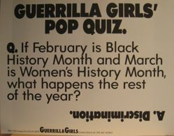 Guerrilla Girls' Pop Quiz, from the Guerrilla Girls' Compleat 1985-2008
