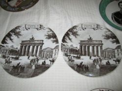 Plate with image of Bradenburg Gate, ca. 1828