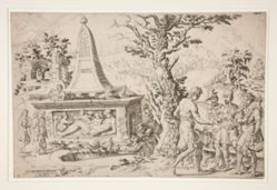 Saul Meeting the Two Men at Rachel's Sepulchre & Receiving Gifts from the Three Men