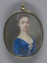 Young Lady in a Blue Dress