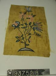 Embroidered plain cloth