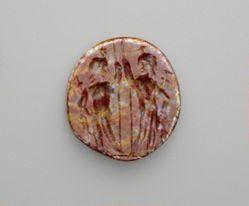 Carved Intaglio Gemstone with the Dioscouri
