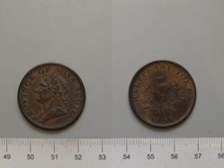 Halfpenny from Birmingham with George IV, King of Great Britain